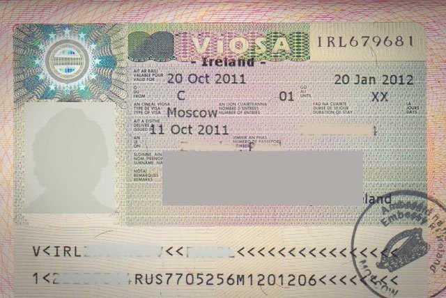 Виза в Ирландию для россиян 2019